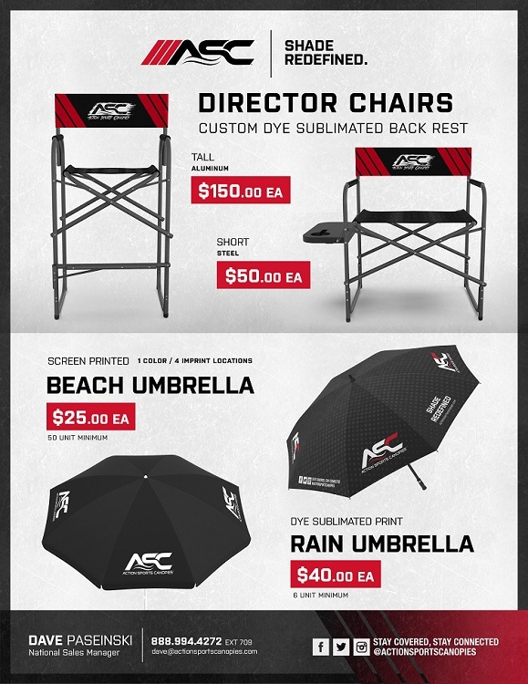 Custom Directors Chairs & Umbrellas