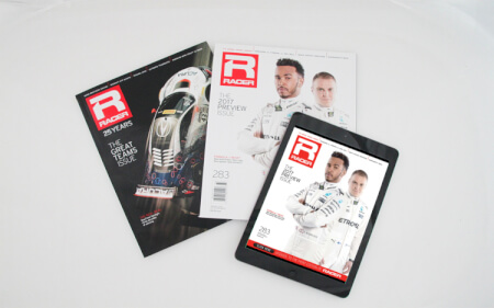 Special Rate Advertising for RACER magazine