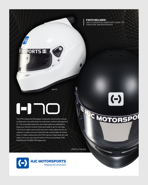 H70 SA2020 / FiA 8859 HELMETS NOW AVAILABLE!