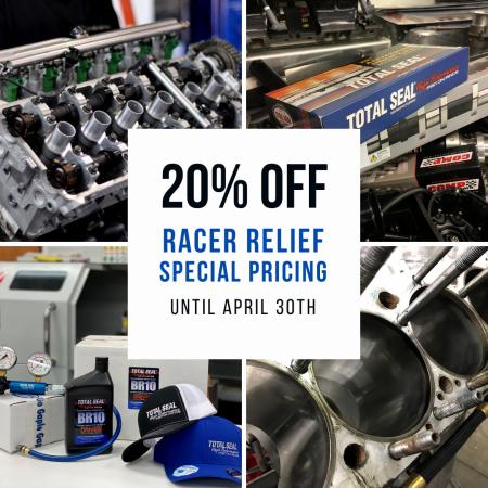 Total Seal 20% Off Racer Relief Program