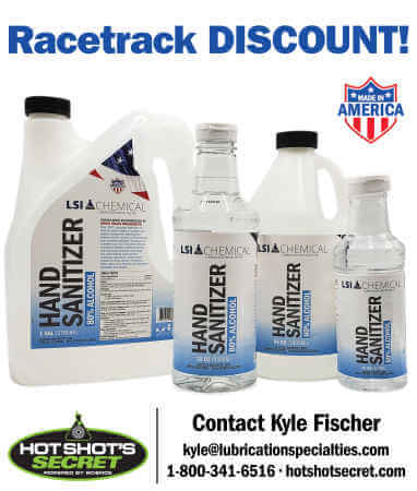 Racetrack Special Discount  - LSI Chemical Hand Sanitizer