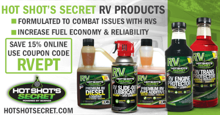 15% off any Hot Shot's Secret RV Product