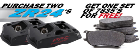 Free CarbonMetallic Pads with ZR24 Caliper purchase!
