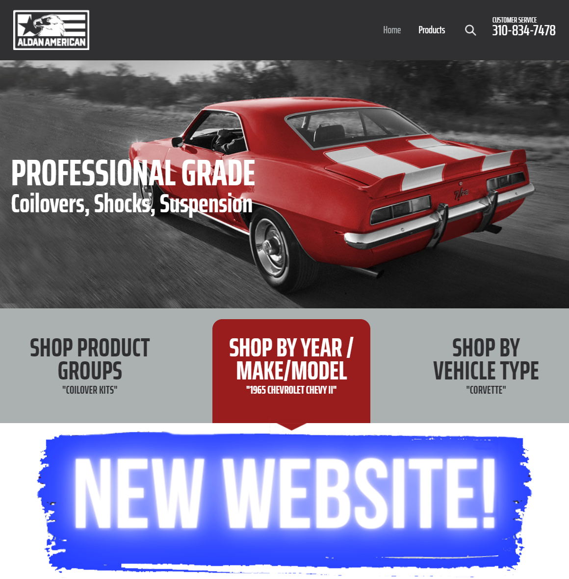 DRIVE ON OVER TO OVER TO OUR NEW WEBSITE ALDANAMERICAN.COM!