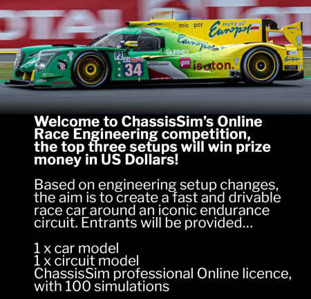 $1000 Online Race Engineering Competition