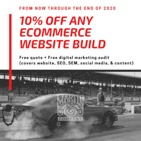 Ecommerce website build & digital audit discount