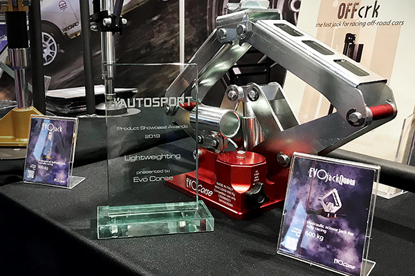 EVOJACK QUADRA AWARDED AT THE AUTOSPORT INTERNATIONAL SHOW