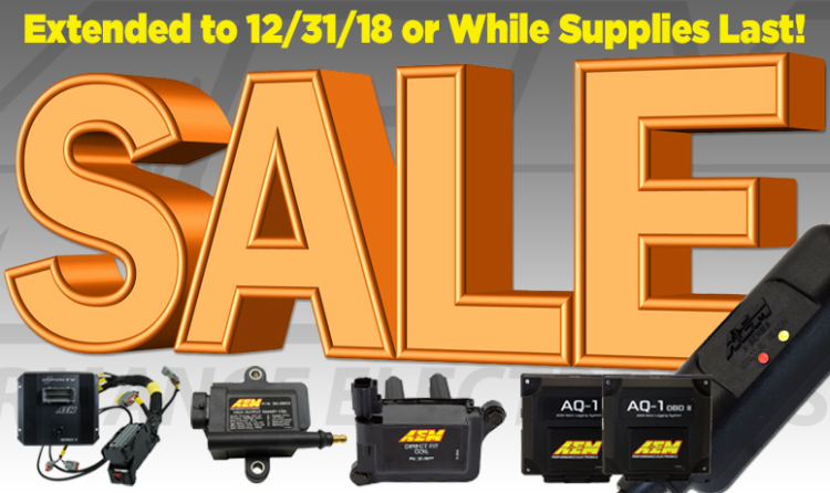 AEM Super Sale Through the Remainder of 2018!