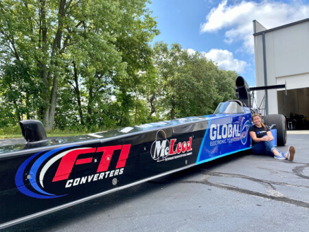 Global Electronic Technology Joins Krista Baldwin Racing for the NHRA Indy Nationals
