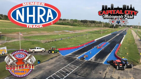 CAPITAL CITY MOTORSPORTS PARKS SIGNS AGREEMENT WITH NHRA