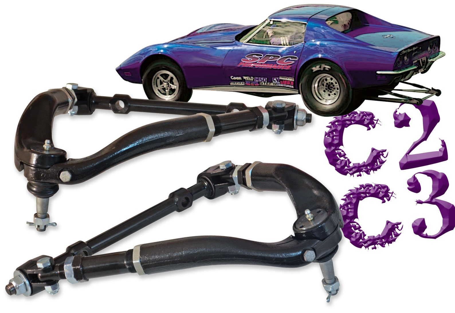 Corvette C2/C3 Adjustable Upper Control Arms