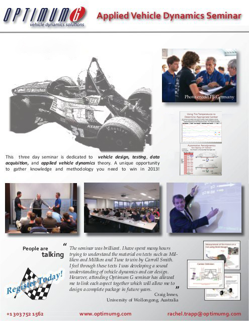 Applied Vehicle Dynamics Seminar