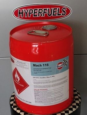 Gulf Mach 116 Unleaded Race Fuel