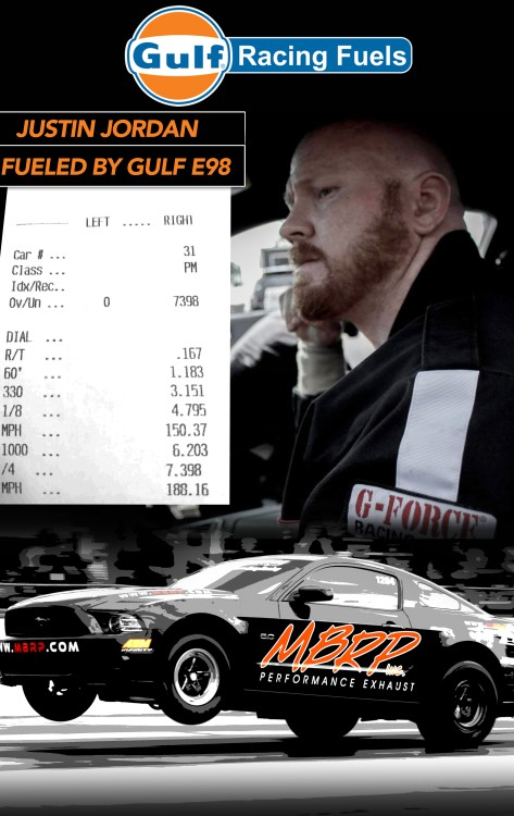 Gulf e98 Ethanol Race Fuel