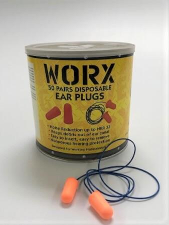 Worx Corded Foam Ear Plugs 50pair