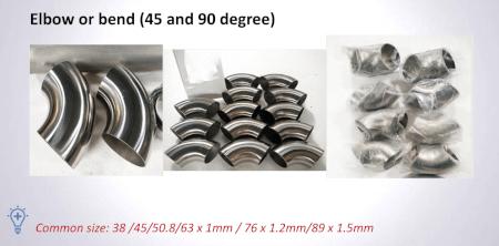 Titanium Parts Standard Size