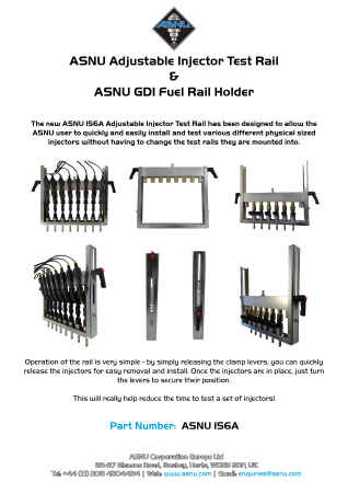 ASNU Adjustable Injector Test Rail