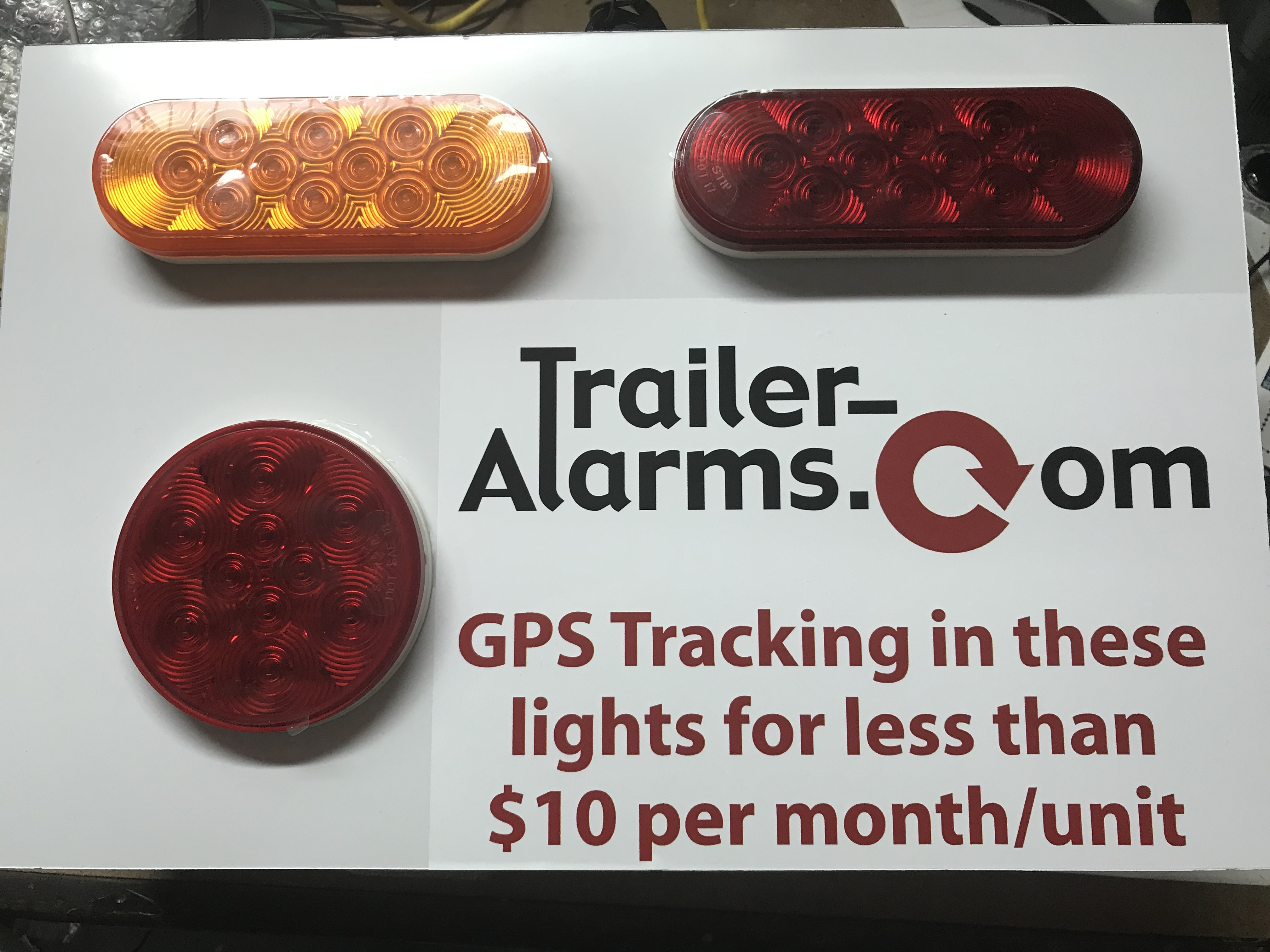 GPS tracking in tail light hidden in plain sight