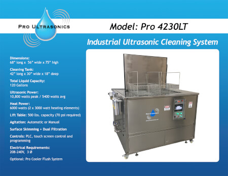 Pro 3624LT industrial ultrasonic cleaning system