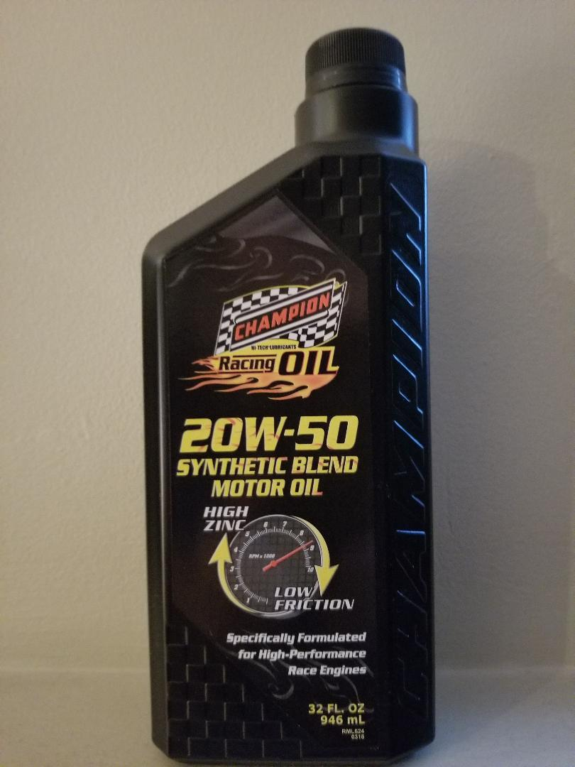 20W50 Semi-Synthetic Racing Oil