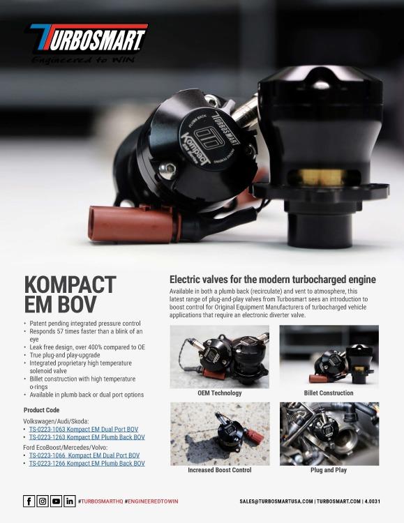 Kompact EM Series BOV - Recirculating/Dual Port