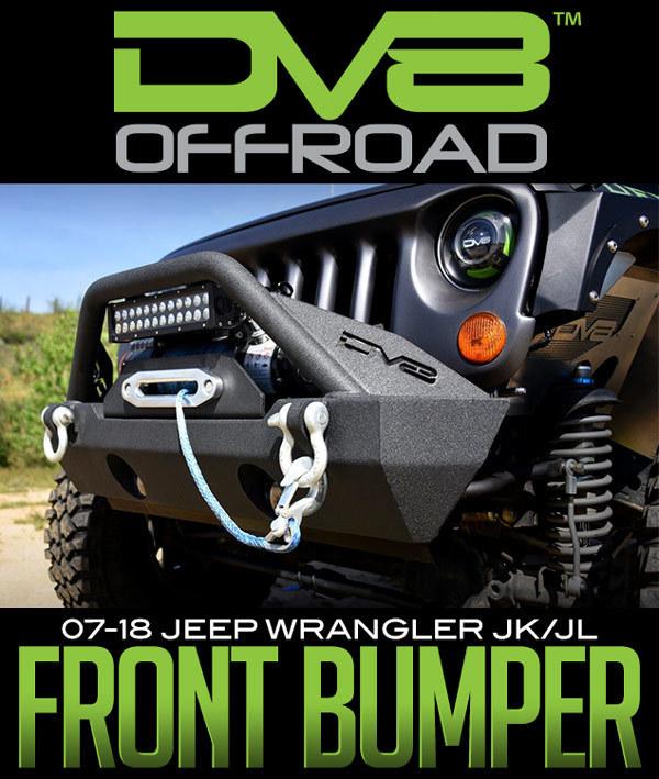 DV8 Off-Road FS-15 Steel Stubby Front Bumper w/ Fog Lights