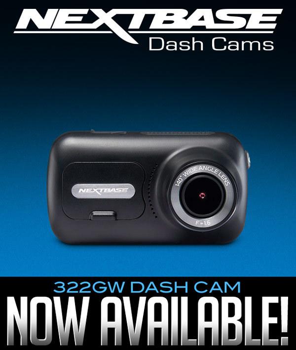 NextBase 322GW Dash Cam Now Available!
