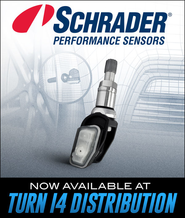 Schrader Now Available at Turn 14 Distribution!