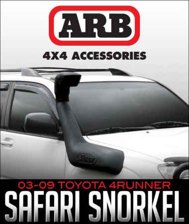 ARB Safari Snorkel: 2003–2009 Toyota 4Runner