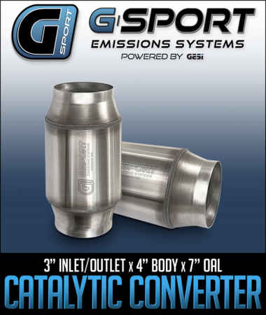G-Sport EPA Approved Catalytic Converter: 3 in. Inlet/Outlet