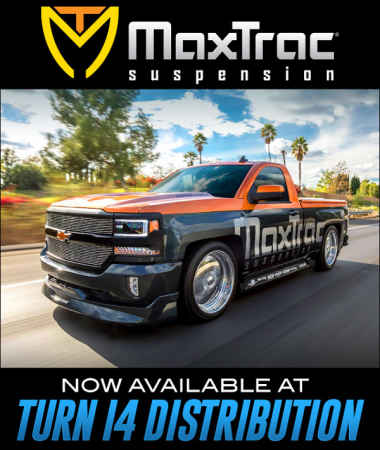 MaxTrac Suspension at Turn 14 Distribution!