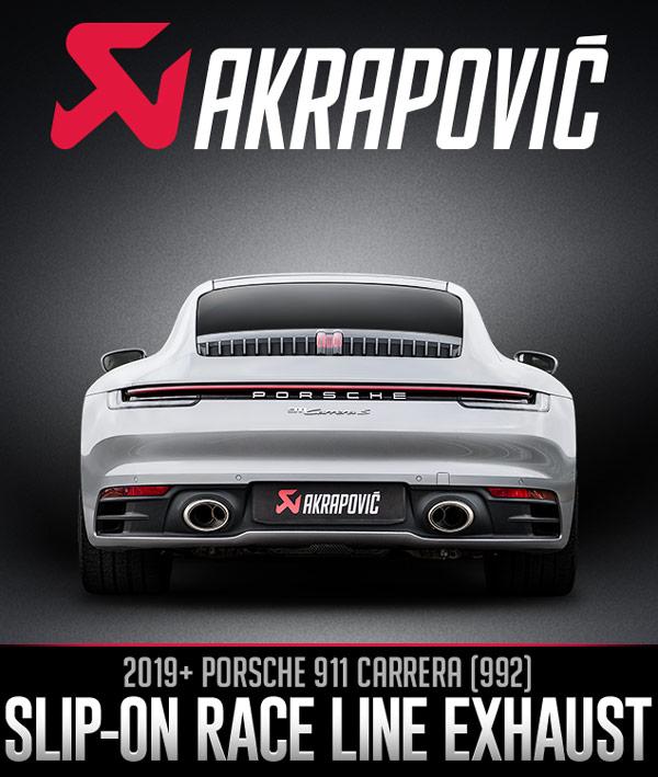 Akrapovič Slip-On Race Line for the Porsche 911 (992)