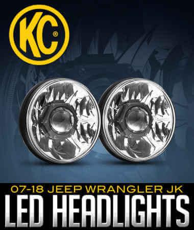 KC HiLiTES Gravity Pro LED Headlights: 07–18 Jeep Wrangler