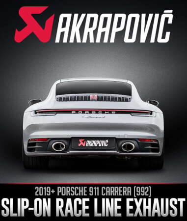 Akrapovič Slip-On Race Line for the Porsche 911 (992)