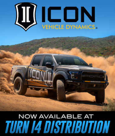 ICON Vehicle Dynamics Now Available at Turn 14 Distribution!