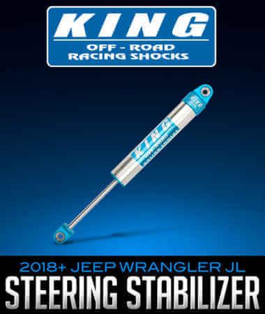 King Shocks 2.0 Steering Stabilizer: 2018+ Jeep Wrangler
