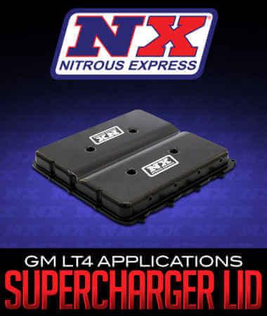 Nitrous Express Billet Supercharger Lid: GM LT4 Applications