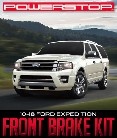 PowerStop Front Brake Kit: 2010–2018 Ford Expedition