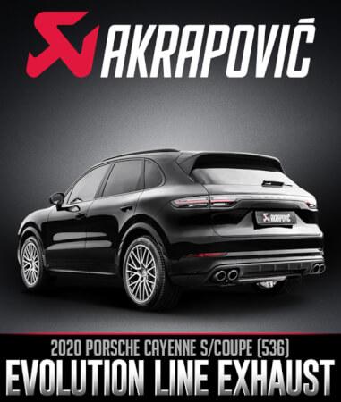 Akrapovič Evolution System: 2020 Porsche Cayenne S/Coupe