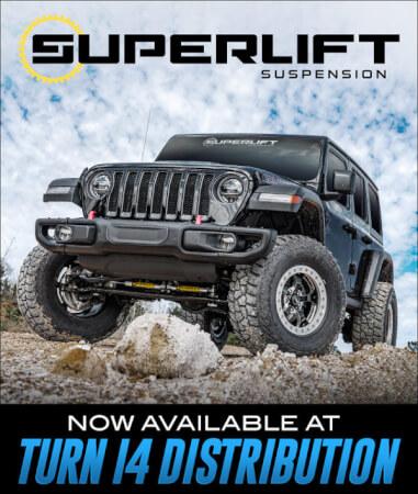 Superlift Suspension at Turn 14 Distribution!
