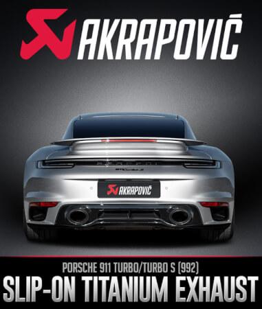 Akrapovič Slip-On Race Line: Porsche 911 Turbo/Turbo S (992)