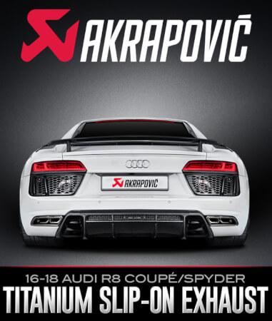 Akrapovič Slip-On Line Titanium Exhaust Audi R8 Coupé/Spyder