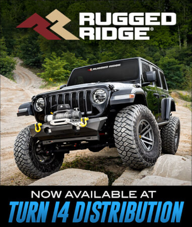 Rugged Ridge Now Available at Turn 14 Distribution!