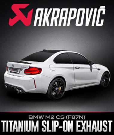 Akrapovič Slip-On Line Titanium Exhaust System: BMW M2 CS