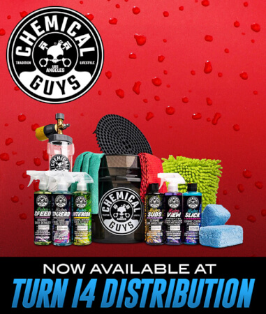 Chemical Guys Now Available at Turn 14 Distribution!