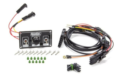 Modified Single Ignition Harness & Black Switch Panel