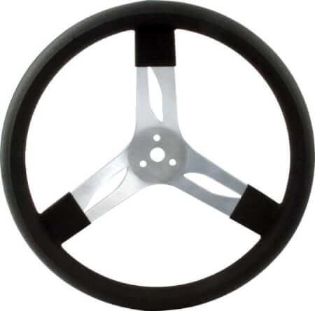 "Black 15"" Aluminum Steering Wheel 68-001"