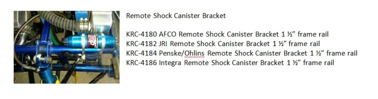 AFCO Remote Shock Canister Bracket