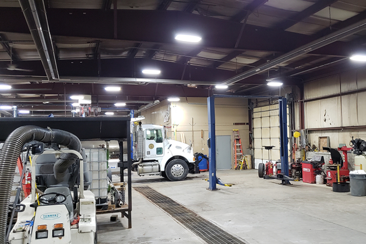 Race Shop Lighting Installation