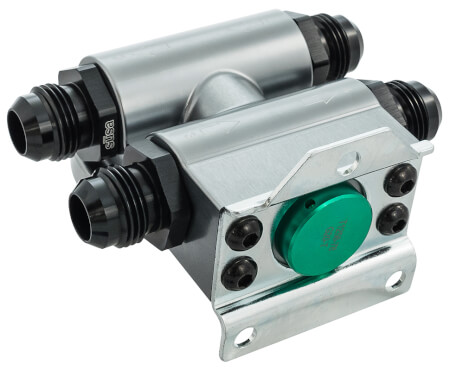 Billet Remote Oil Filter Stand with Thermostat
